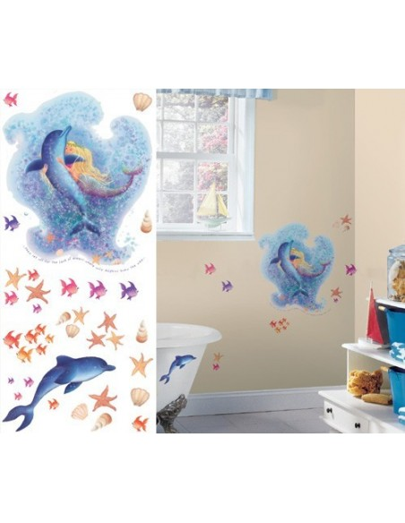 ROOMMATES Mermaid Stickers YH1312M