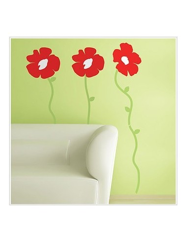 ROOMMATES Naklejki Poppies RMK1168GM