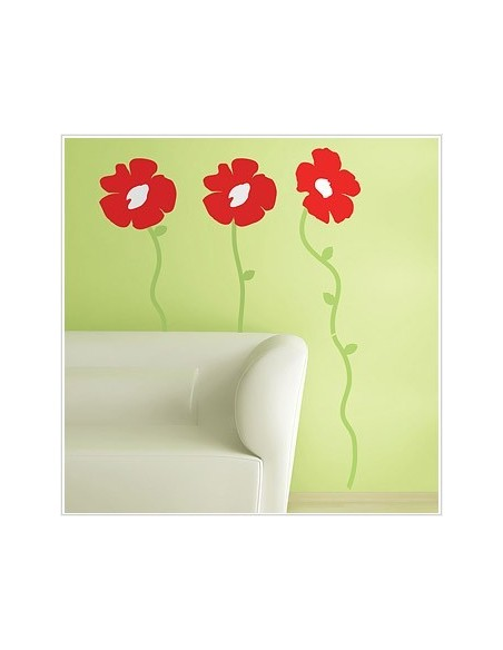 ROOMMATES Poppies Stickers RMK1168GM