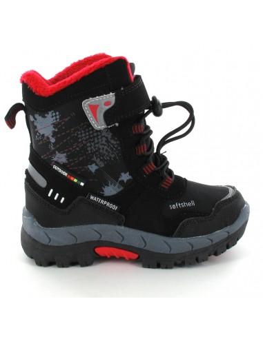 AMERICAN CLUB Children's Snow Boots HL4420-BKR